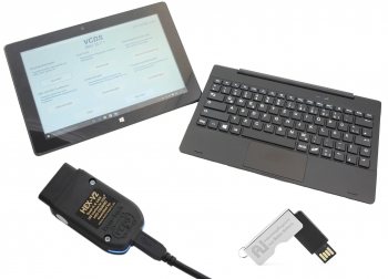 Ross-Tech VCDS Profi Basiskoffer HEX V2 mit Win10 (10 Zoll) Tablet