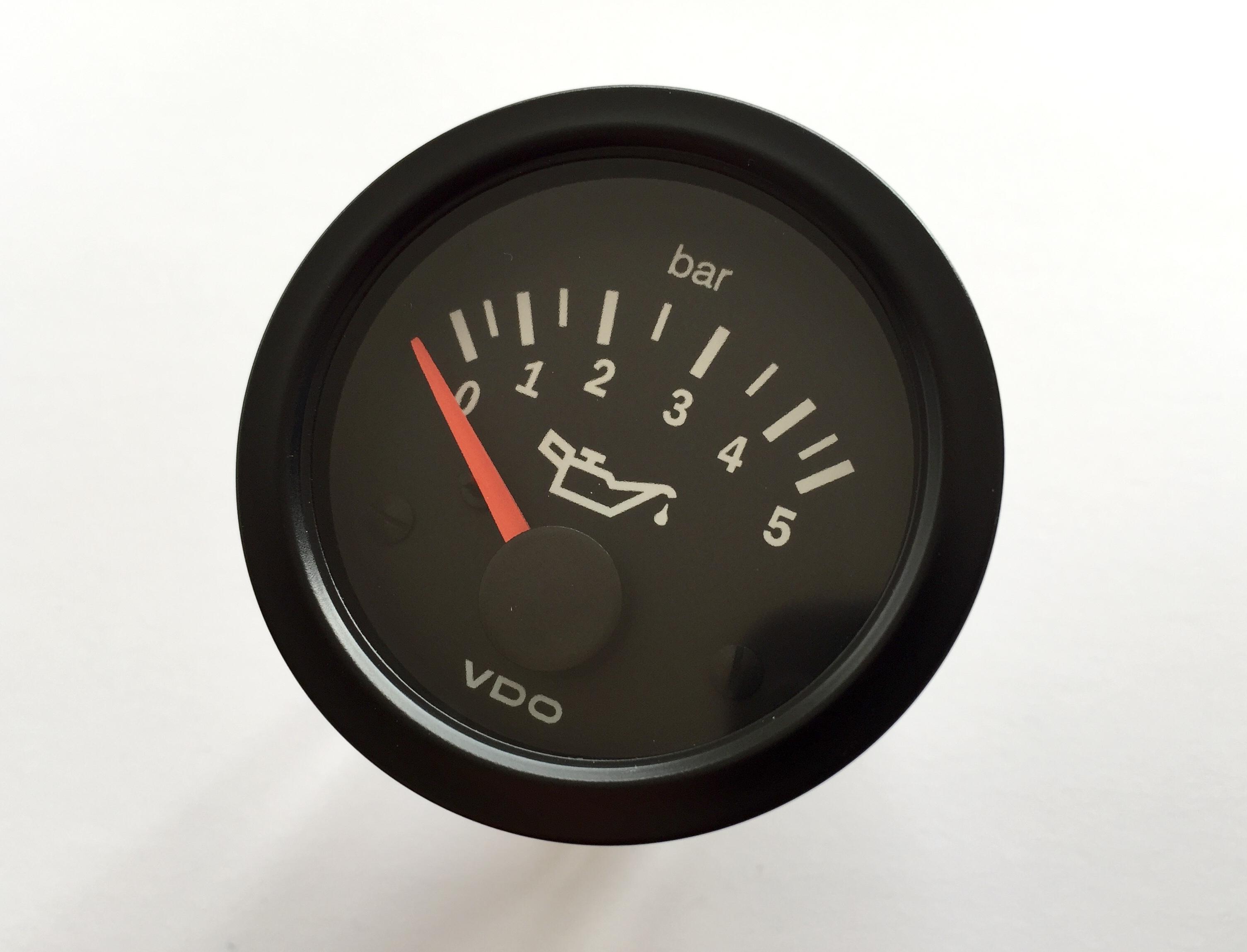 """VDO /""""international/"""" Öldruckanzeige 5 bar 24V"""